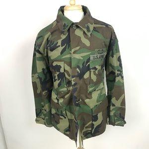 Vintage US Army Mens Camo Green Field Jacket